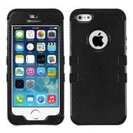 *SALE* Military Grade Certified TUFF Image Hybrid Case for iPhone SE / 5S / 5 - Carbon Fiber