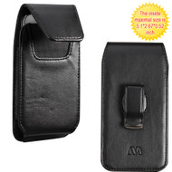 Vertical Leather Hip Case - Black