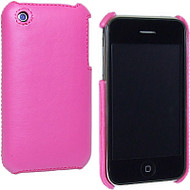 Executive Leather Back Shell Cover for Apple iPhone 3G / iPhone 3G S (Hot Pink)