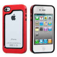 Dual-Layer Bumper Cover for iPhone 4 / 4S - Red
