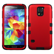 Military Grade Certified TUFF Hybrid Case for Samsung Galaxy S5 - Red