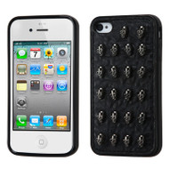 Gothic Series Protective Cover for iPhone 4 / 4S - Skull Black