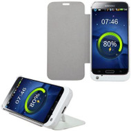 Quantum Energy Battery Charger Kickstand Flip Case 3200mAh for Samsung Galaxy S5 - White