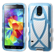 Fish Hybrid Case for Samsung Galaxy S5 - Baby Blue White