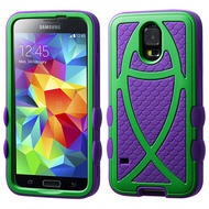 Fish Hybrid Case for Samsung Galaxy S5 - Green Purple