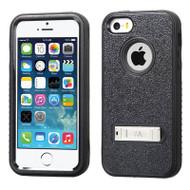 Verge Hybrid Kickstand Case for iPhone SE / 5S / 5 - Black