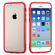 Hybrid Bumper Case for iPhone 6 / 6S - Red Clear