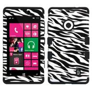 Military Grade TUFF Image Hybrid Case for Nokia Lumia 521 - Zebra
