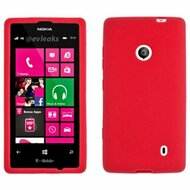 Premium Silicone Skin Cover for Nokia Lumia 521 - Red