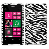 Snap-On Protective Image Case for Nokia Lumia 521 - Zebra