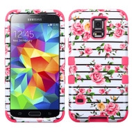 Military Grade Certified TUFF Image Hybrid Case for Samsung Galaxy S5 - Fresh Roses