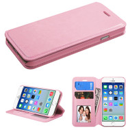 Book-Style Leather Folio Case for iPhone 6 / 6S - Pink
