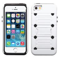 TechnoKick Hybrid Case for iPhone SE / 5S / 5 - White