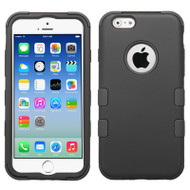 Military Grade Certified TUFF Hybrid Case for iPhone 6 / 6S - Black 001