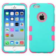 Military Grade Certified TUFF Hybrid Case for iPhone 6 / 6S - Teal Hot Pink