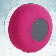 Waterproof Suction Cup Bluetooth Wireless Speaker with Hands-Free Speakerphone - Hot Pink
