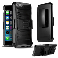 *SALE* Advanced Armor Hybrid Kickstand Case with Holster for iPhone 6 Plus / 6S Plus - Black Grey