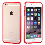 Hybrid Bumper Case for iPhone 6 Plus / 6S Plus - Red Clear