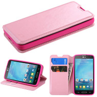 *$1 SALE* Book-Style Leather Folio Case for LG Optimus L90 - Pink