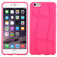 Basketball Texture TPU Skin Cover for iPhone 6 Plus / 6S Plus - Hot Pink