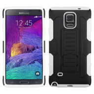 Robust Armor Stand Protector Cover for Samsung Galaxy Note 4 - Black White