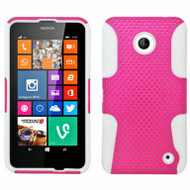 *$1 SALE* Astronoot Multi-Layer Hybrid Case for Nokia Lumia 630 / 635 - Hot Pink White