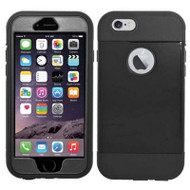 *SALE* Triple Layer Hybrid Armor Case with Integrated Screen Protector for iPhone 6 / 6S - Black