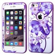 Verge Image Hybrid Case for iPhone 6 Plus / 6S Plus - Hibiscus Flower Romance Purple