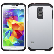 Hybrid Multi-Layer Armor Case for Samsung Galaxy S5 - Silver