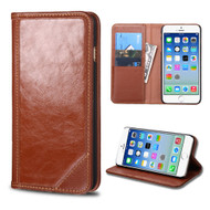 Mybat Genuine Leather Wallet Case for iPhone 6 / 6S - Brown
