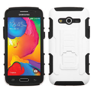 Robust Armor Stand Protector Cover for Samsung Galaxy Avant - White