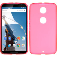 *Sale* Rubberized Crystal Case for Motorola Google Nexus 6 - Hot Pink