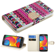 Art Design Portfolio Leather Wallet for Samsung Galaxy Avant - Tribe Impression