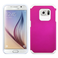 Hybrid Multi-Layer Armor Case for Samsung Galaxy S6 - Hot Pink White