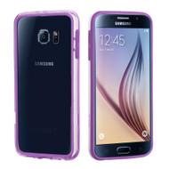 Hybrid Bumper Case for Samsung Galaxy S6 - Purple Clear