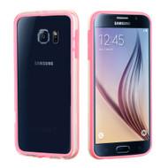 Hybrid Bumper Case for Samsung Galaxy S6 - Pink Clear