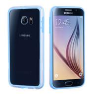 Hybrid Bumper Case for Samsung Galaxy S6 - Baby Blue Clear