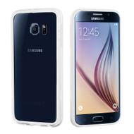 Hybrid Bumper Case for Samsung Galaxy S6 - White Clear