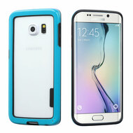 Snap-On Hybrid Bumper Case for Samsung Galaxy S6 Edge - Blue