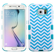Military Grade Certified TUFF Image Hybrid Case for Samsung Galaxy S6 Edge - Blue Wave