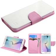 Diary Leather Wallet Case for Samsung Galaxy S6 Edge - White