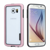 Snap-On Hybrid Bumper Case for Samsung Galaxy S6 - Pink