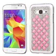 Desire Bling Bling Crystal Cover for Samsung Galaxy Core Prime / Prevail LTE - Diamond Pink