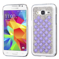 Desire Bling Bling Crystal Cover for Samsung Galaxy Core Prime / Prevail LTE - Diamond Purple