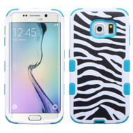 Military Grade Certified TUFF Image Hybrid Case for Samsung Galaxy S6 Edge - Zebra Teal