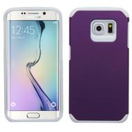 Hybrid Multi-Layer Armor Case for Samsung Galaxy S6 Edge - Purple White