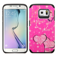 Hybrid Multi-Layer Armor Case for Samsung Galaxy S6 Edge - Glittering Butterfly