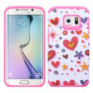 Hybrid Multi-Layer Armor Case for Samsung Galaxy S6 Edge - Heart Graffiti