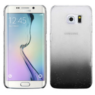 3D Water Drop Transparent Cover for Samsung Galaxy S6 Edge - Black