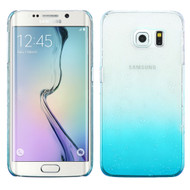 3D Water Drop Transparent Cover for Samsung Galaxy S6 Edge - Blue